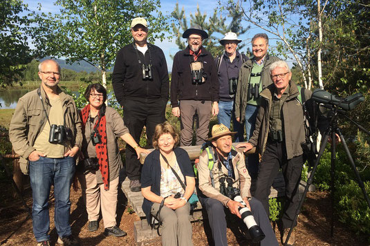 ASO-Exkursionsgruppe in den Rosenheimer Stammbeckenmooren (Foto: Pit Brützel)