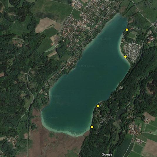 Pilsensee Zählpunkte Wasservogelzählung