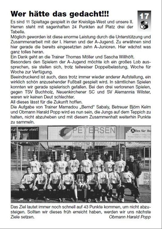 Stadionzeitung 26. Oktober 2013