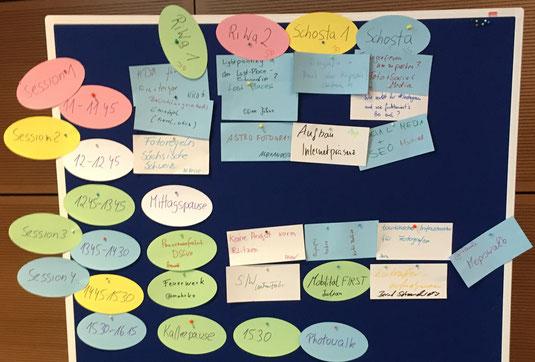 Der Session Plan für den ersten Tag