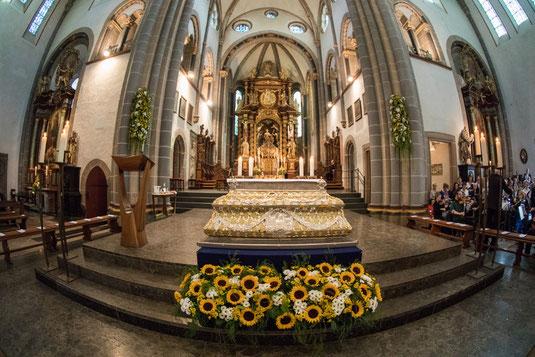 Der Ludgerus-Schrein in der Werdener Basilika. Archivfoto: Achim Pohl | Bistum Essen
