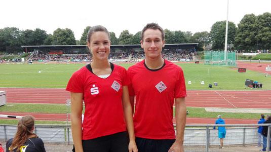 Kerstin Steinle mit ihrem Trainer Marcel Fieder