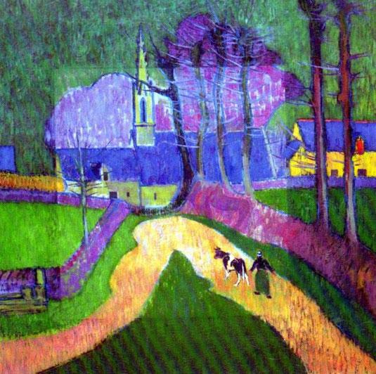 peinture chapelle pont aven au musée des beauts-arts de Pont-Aven