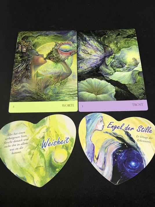 Das Heilungsengel Orakel von Josephine Wall und Carolin Stern sowie Lichtengel Herzkarten von Sigrid Mahncke auf Phönixzauber