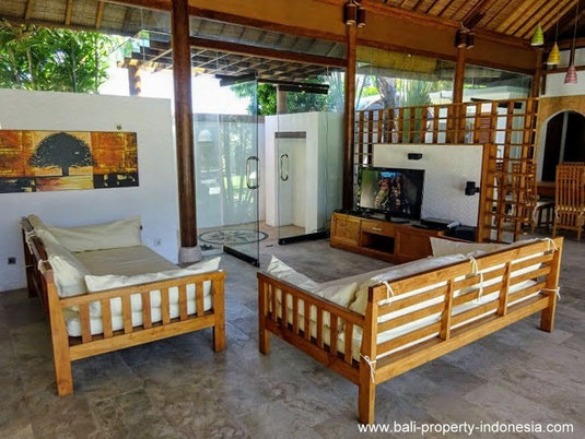 Sanur beach side villas on offer for sale. South Bali.