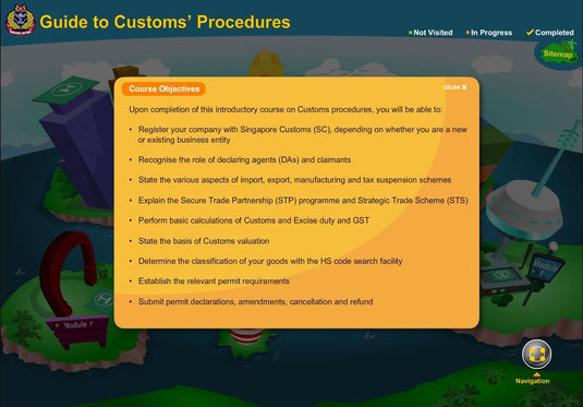 Guia para procedimientos aduaneros (e-learning) Aduana de Singapur