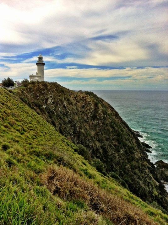 Der bekannte Leuchtturm von Byron Bay und östlichster Punkt des australischen Festlandes