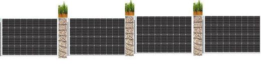Solar Gabionen Zaun Mit Krautern Solar Photovoltaik Waermepumpe
