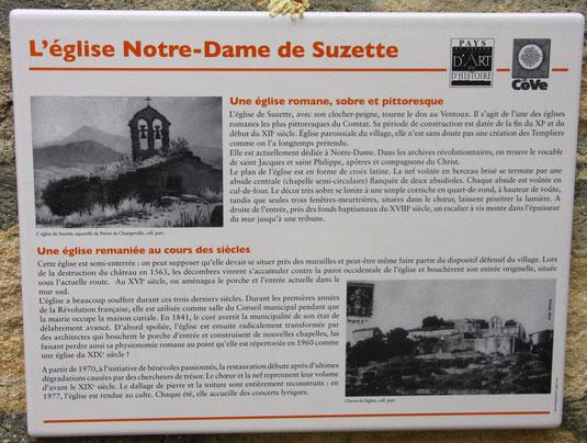 Bild: L´eglise Notre-Dame de Suzette, Kirche von Suzette