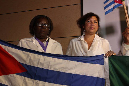 Sending doctors overseas is part of Cuban diplomacy (here in Brazil in 2013, source Flickr)
