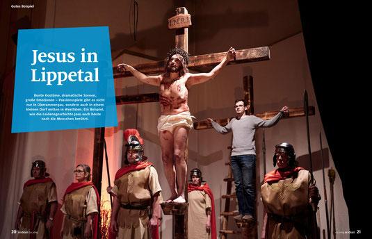 Fotos/Bericht im Erzblatt - Mitarbeitermagazin des Erzbistums PB