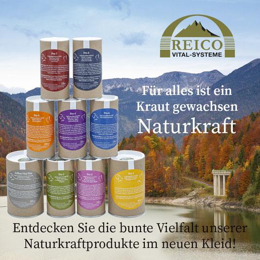Naturkraft - Pro 1, Pro 2, Pro 3, Pro 4, Pro 6, Pro 7, Pro 8, Aufbau Vital Plus von Reico Vital.