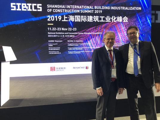 Prof. Dr.-Ing. Harald S. Müller und Dr. Ulrich Lotz auf den BetonTagen asia 2019.