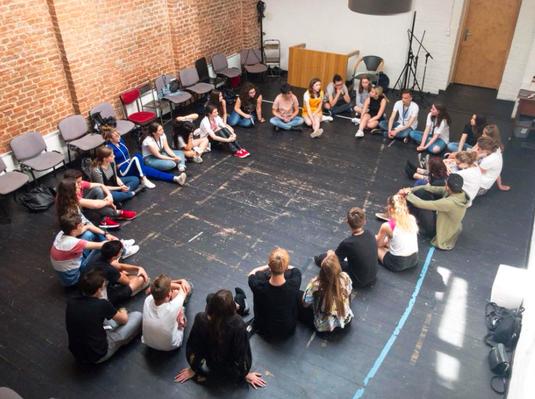 Ateliers avec les jeunes comédiens de 9 pays du monde, mai 2018