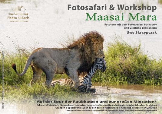 Masai Mara Fotosafari & Workshop - Auf der Spur der Raubkatzen und zur großen Migration