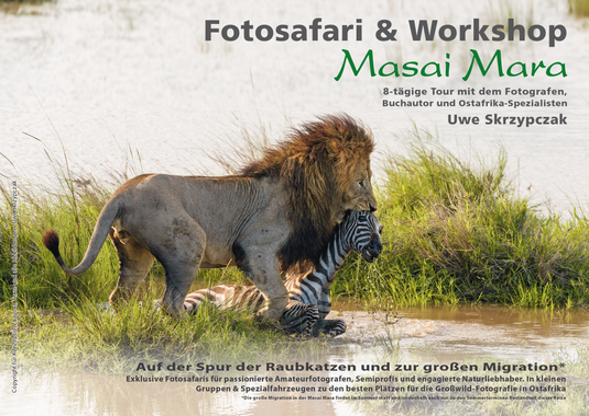 Masai Mara Fotosafari & Workshop - Auf der Spur der Raubkatzen und zur großen Migration.