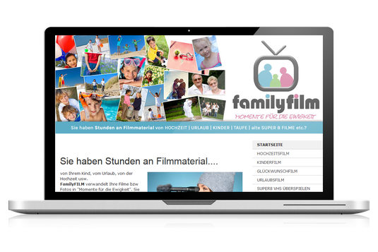 familyfilm webdesign website4everyone