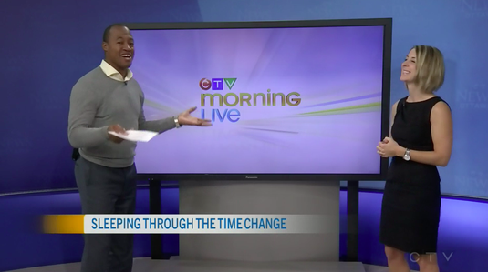 Erin Junker of The Happy Sleep Company discusses Daylight Saving Time and baby and toddler sleep with Henry Burris of CTV Ottawa Morning Live