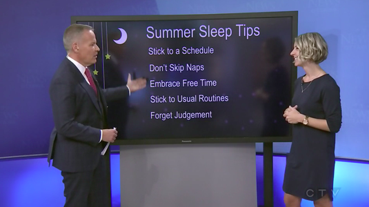 Erin Junker and Leslie Roberts chat on CTV Ottawa Morning Live about summer sleep tips for families!