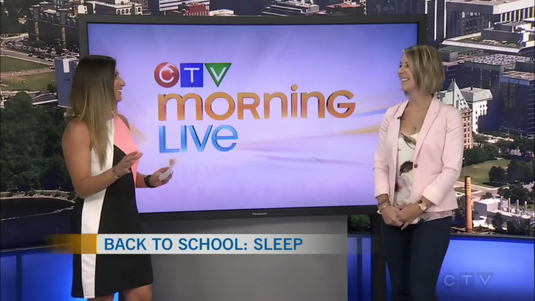 Erin Junker, Infant & Toddler Sleep Consultant and Owner of The Happy Sleep Company, chats with Lianne Laing of CTV Morning Live Ottawa about getting sleep back on track for the start of the school year! Back to school time!