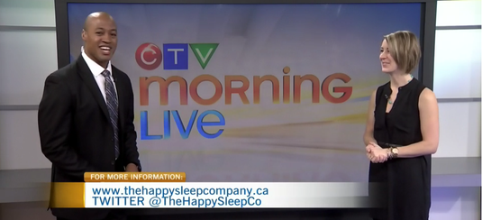 Erin Junker, Professional Infant & Toddler Sleep Consultant, with Henry Burris of CTV Morning Live