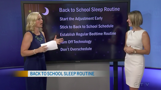 Sleep Consultant Erin Junker chats with CTV Morning Live about back-to-school sleep schedules