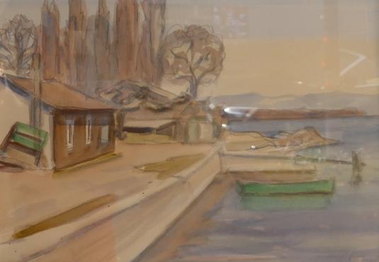 Exposition de tableaux, galerie, Marius Borgeaud, Fernand Gaulis, Jaques Berger, Gustave Buchet, R.-Th. Bosshard, Alfred Chavannes, Charles Clément, Frédéric Rouge