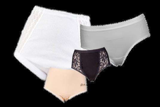 Beeren Bodywear dames slips, wit, zwart en huidskleur