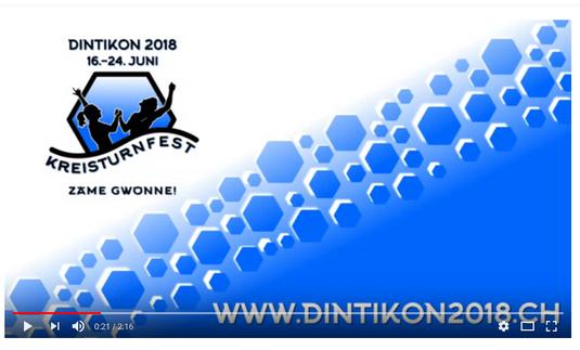 Das Turnfest Dintikon 2018 findet von 16. - 24. Juni statt