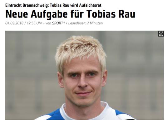 Fußballnationalspieler Tobias Rau (Quelle: www.sport1.de)