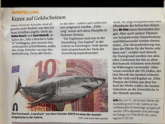 """Ein schöner Bericht über """"DA$ KAPITAL"""" in der Rheinischen Post vom 18.06.2019."""