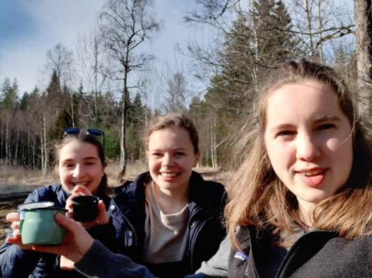 Madeleine, Pauline und Ricarda