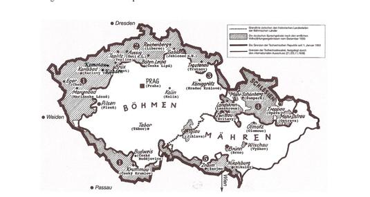 Karte der Sudetenländer (Quelle: http://www.sudeten-bayreuth.de)