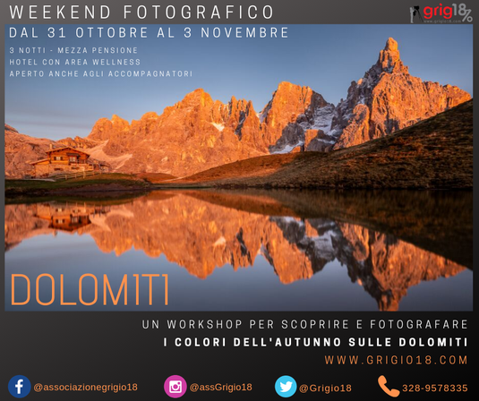 workshop fotografia dolomiti autunno