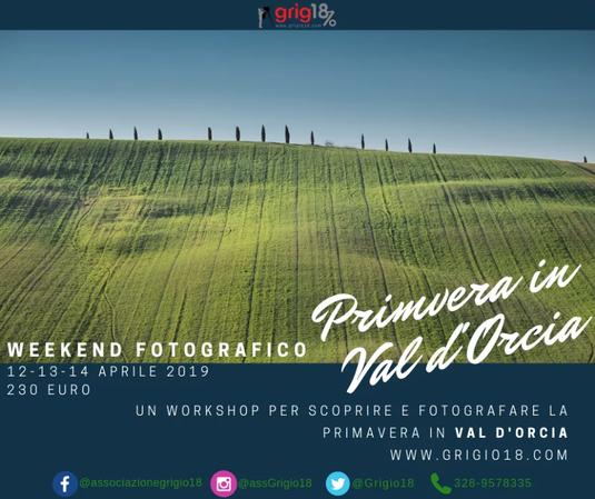 workshop fotografia paesaggio in Val d'Orcia