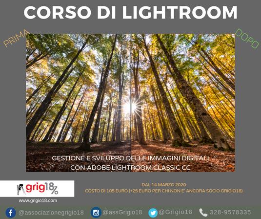 corso postproduzione lightroom a roma
