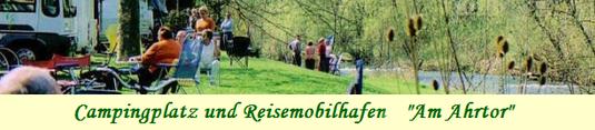 Campingplatz am Ahrtor und Wohnmobilstellplätze direkt in Ahrweiler und direkt an der Ahr.