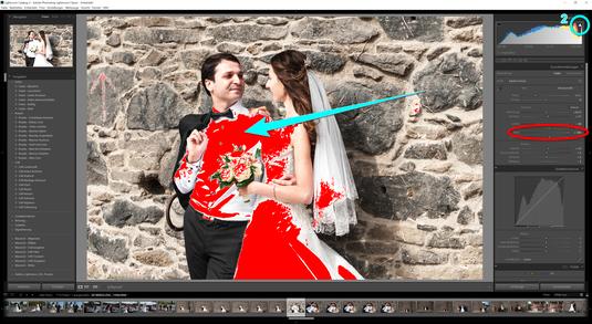 Bewegen Sie den Regler, der im Bild für Weiß verantwortlich ist zu weit nach rechts, also in den Plus Bereich, so bekommt das Foto zu viele helle Flächen, bestimmte Details verschwinden.