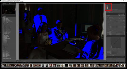 Hat sich das farbige Diagramm in eurem Histogramm von Lightroom CC nach links verschoben, so habt ihr mit sehr kurzer Belichtungszeit fotografiert. Mit anderen Worten - zu wenig Licht ist durch eurer Objektiv in die Kamera gelangt.