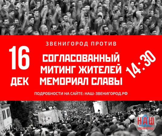 митинг Звенигород