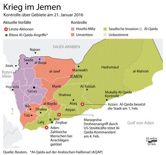 09.02.2016 - RT-Deutsch: Grafik des Tages: Saudische Invasion im Jemen deckt sich fast 1:1 mit Al-Qaida Einfluss-Zone