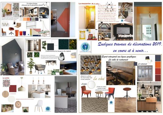 Projets 1er semestre 2019, Isabelle Mourcely Décoration, décoratrice UFDI Tours Chinon Centre Val de Loire Indre et Loire 37
