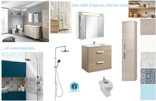 Salle d'eau, Marcilly sur Vienne,  Isabelle Mourcely Décoration, décoratrice UFDI Tours Chinon Centre Indre et Loire 37