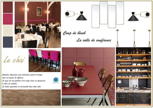 Restaurant Saint Nicolas de Bourgueil; Isabelle Mourcely Décoration, décoratrice UFDI Tours Chinon Centre Indre et Loire 37