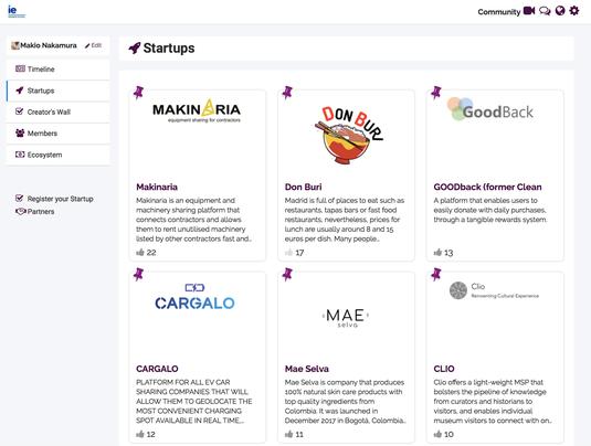 Start-up Lab生専用の特設サイト