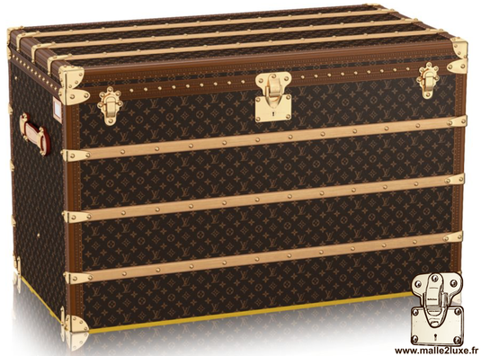 Louis Vuitton High Trunk - LV     Year: 2017   Exterior: LV pvc fabric   Border: lozine   Dimensions: 110 cm x 61 cm x 69 cm