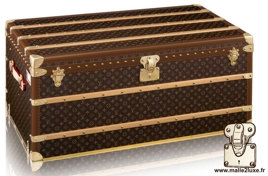 Louis Vuitton mail trunk - LV     Year: 2017   Exterior: LV pvc fabric   Border: lozine   Dimensions: 110 cm x 55 cm x 48 cm