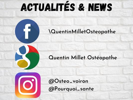 quentin millet osteopathe voiron facebook instagram google informations actualites enceinte nourrisson bébé enfant migraine céphalées torticolis lumbago osteopathie