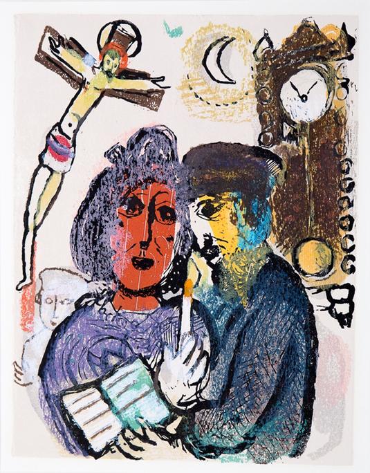 Marc Chagall, houtsnede nr. GC.060 'Mijn moeder', 1968 uit de Wuyt-collectie