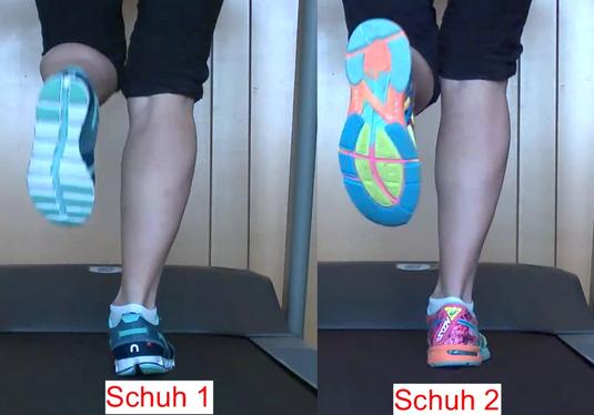 Laufschuh im Vergleich mittels Videoanalyse